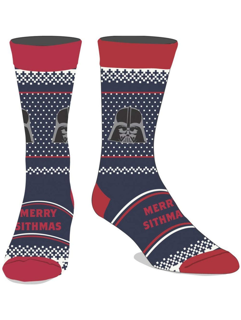 Star Wars - Merry Sithmas Men's Crew Christmas Holiday Socks