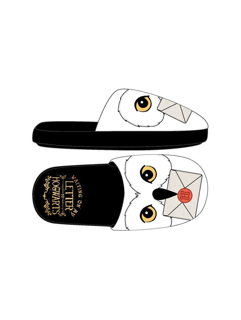 Harry Potter - Hedwig Owl White Slide Slippers