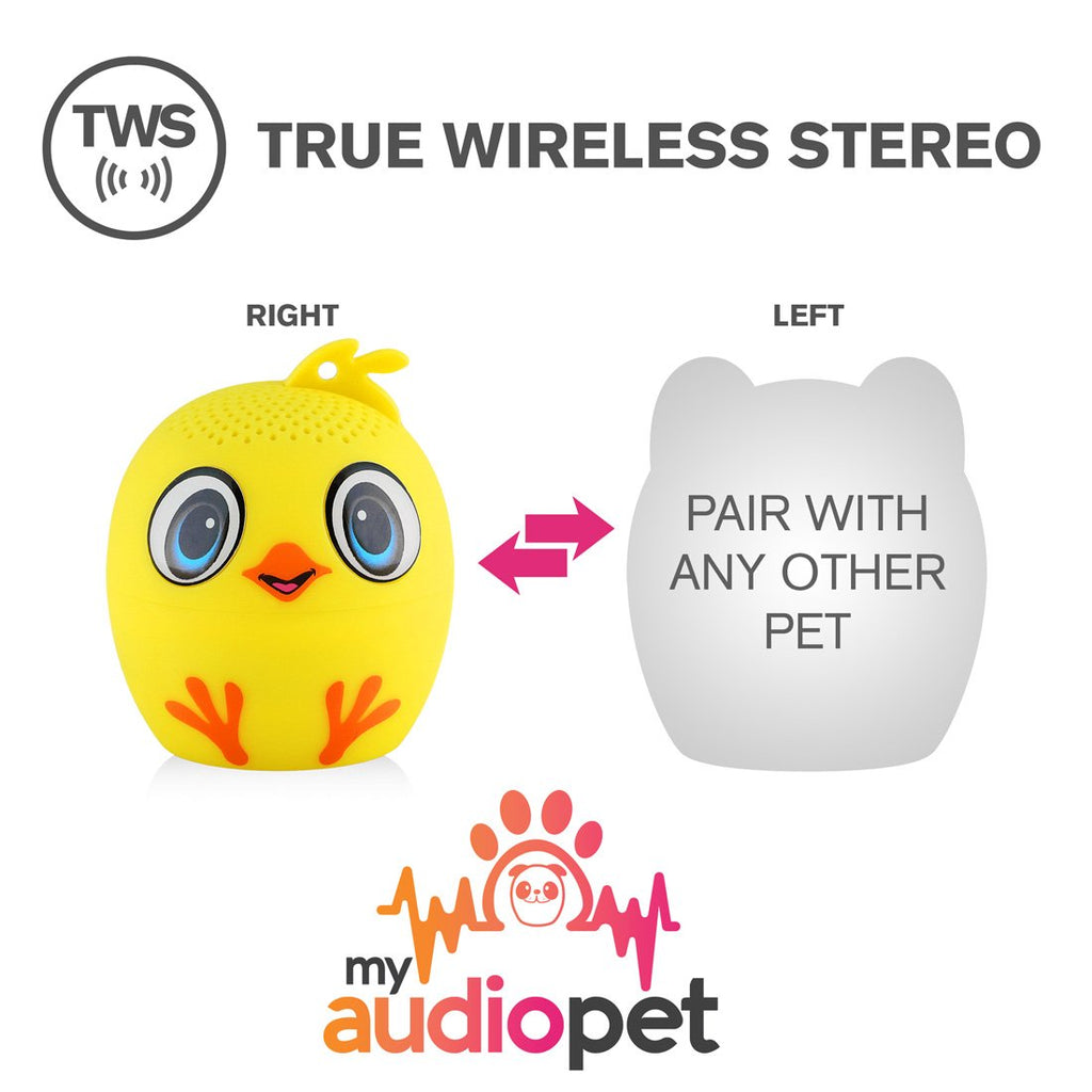 My Audio Pet Mini Bluetooth Animal Wireless Speaker with Powerful Rich Room-Filling Sound - 3W Audio Driver Remote Selfie Function-TWS