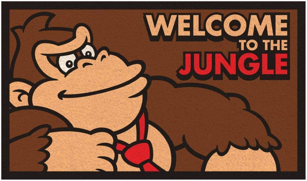 Donkey Kong Welcome to The Jungle Outdoor Door Mat