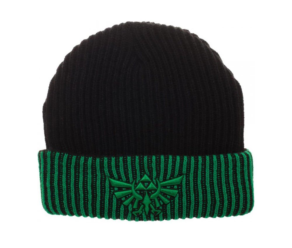 Nintendo - Legend Of Zelda - Logo Reversible Cuff Beanie Green Black Licensed Hat