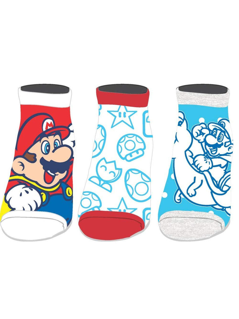 Nintendo - Super Mario World - Pack of 3 Ankle Socks