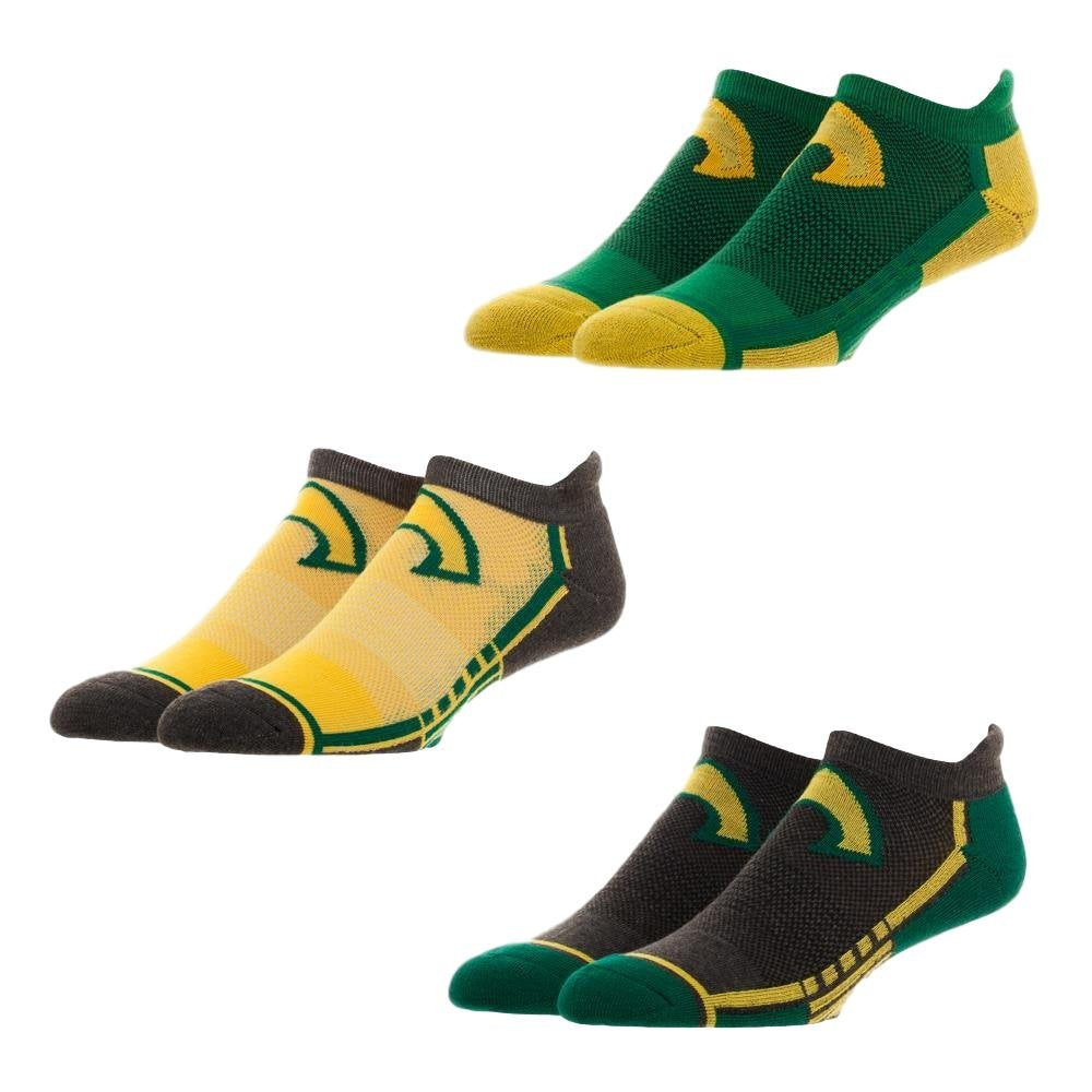 DC Comics - Aquaman Logo 3 Pair Active Ankle Socks