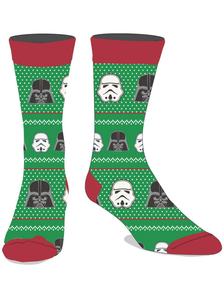 Star Wars - Darth Vader Stormtrooper Mens Crew Christmas Holiday Socks