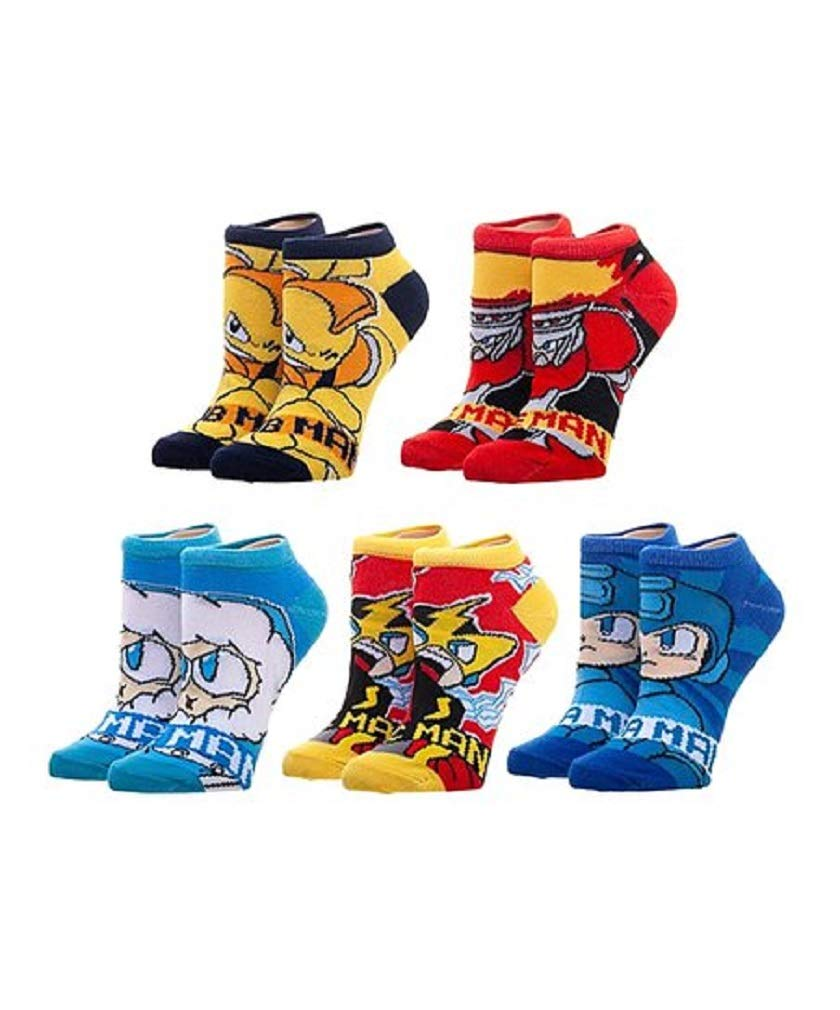 Capcom - Mega Man - Robot Ankle Socks - 5 Pairs
