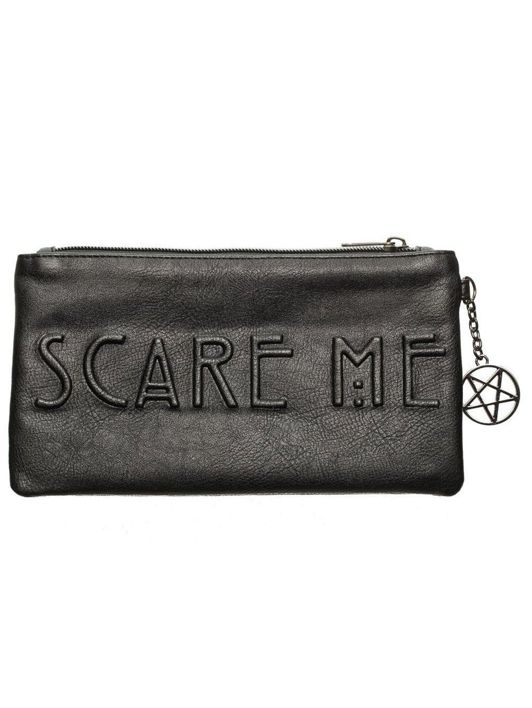 American Horror Story Debossed Black Zip Clutch Wallet 02