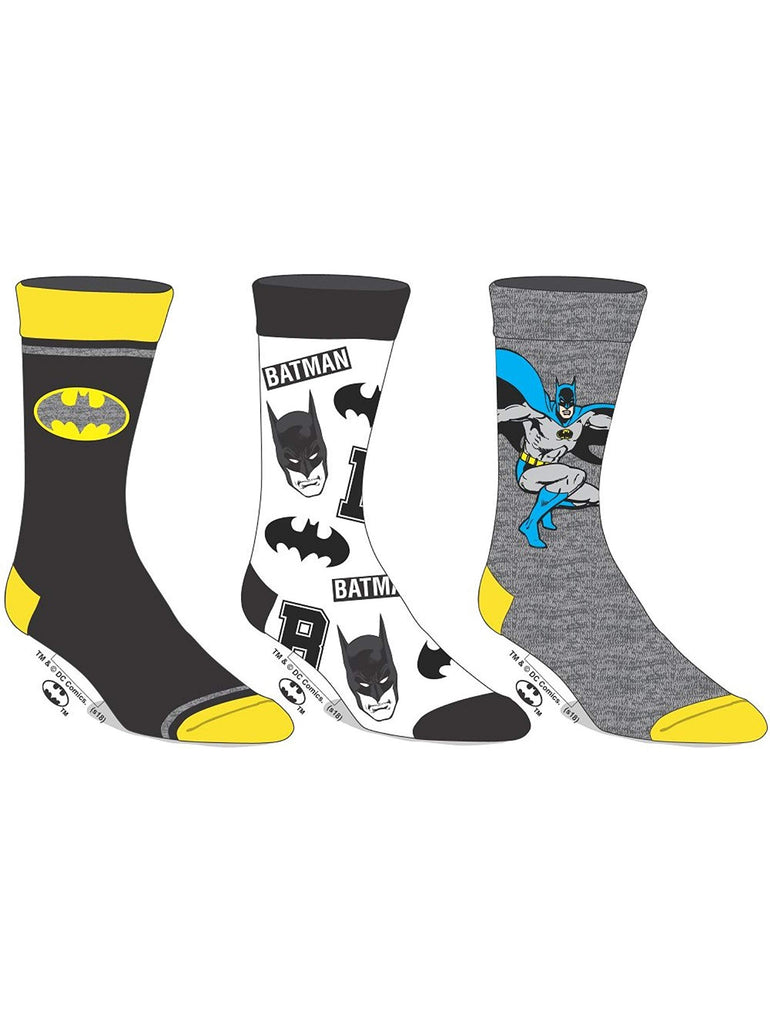 DC Comics - Batman - Mens Crew Socks Combo