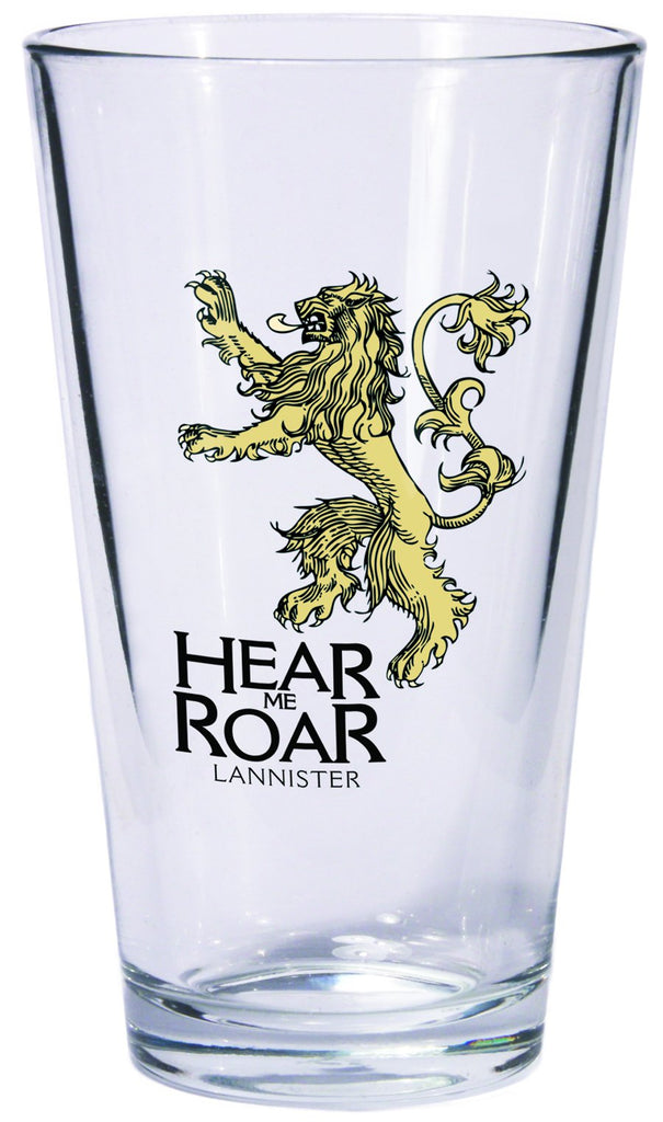 Game of Thrones Pint Glass Lannister