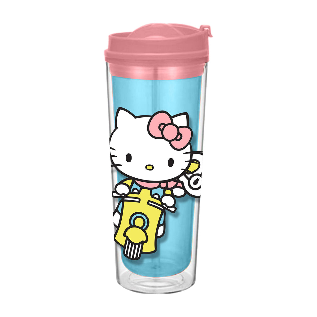 Hello Kitty - Insulated Travel Tumbler, 16 oz, Multicolor