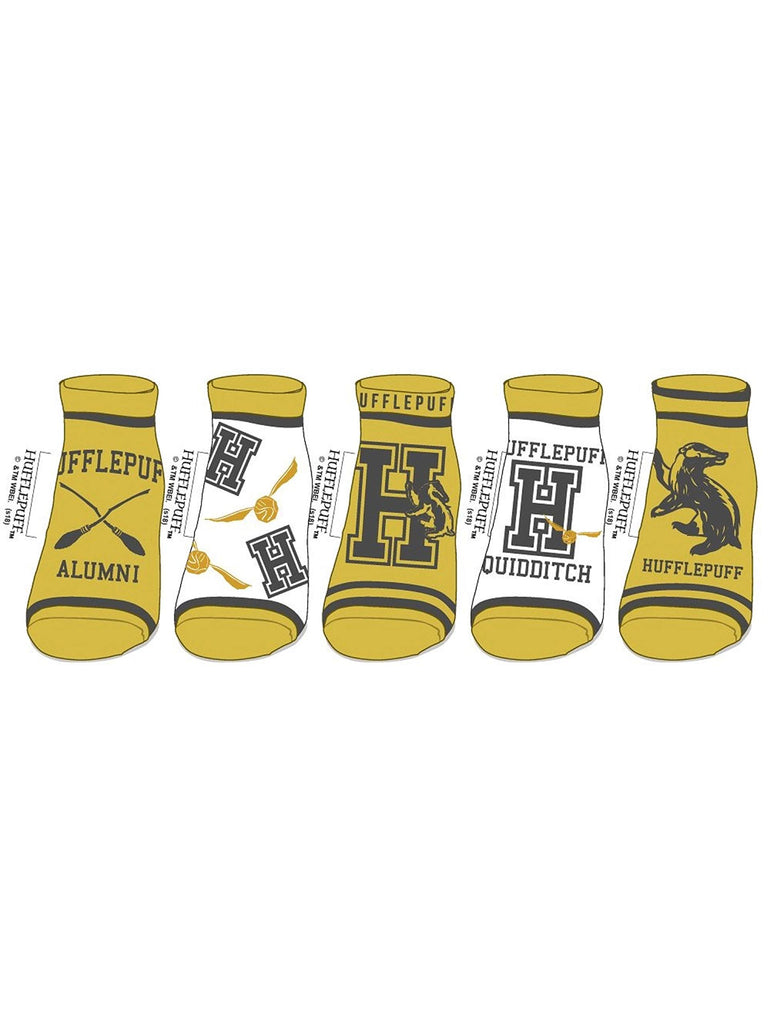 Harry Potter Ladies 5-Pack Ankle Socks hufflepuff