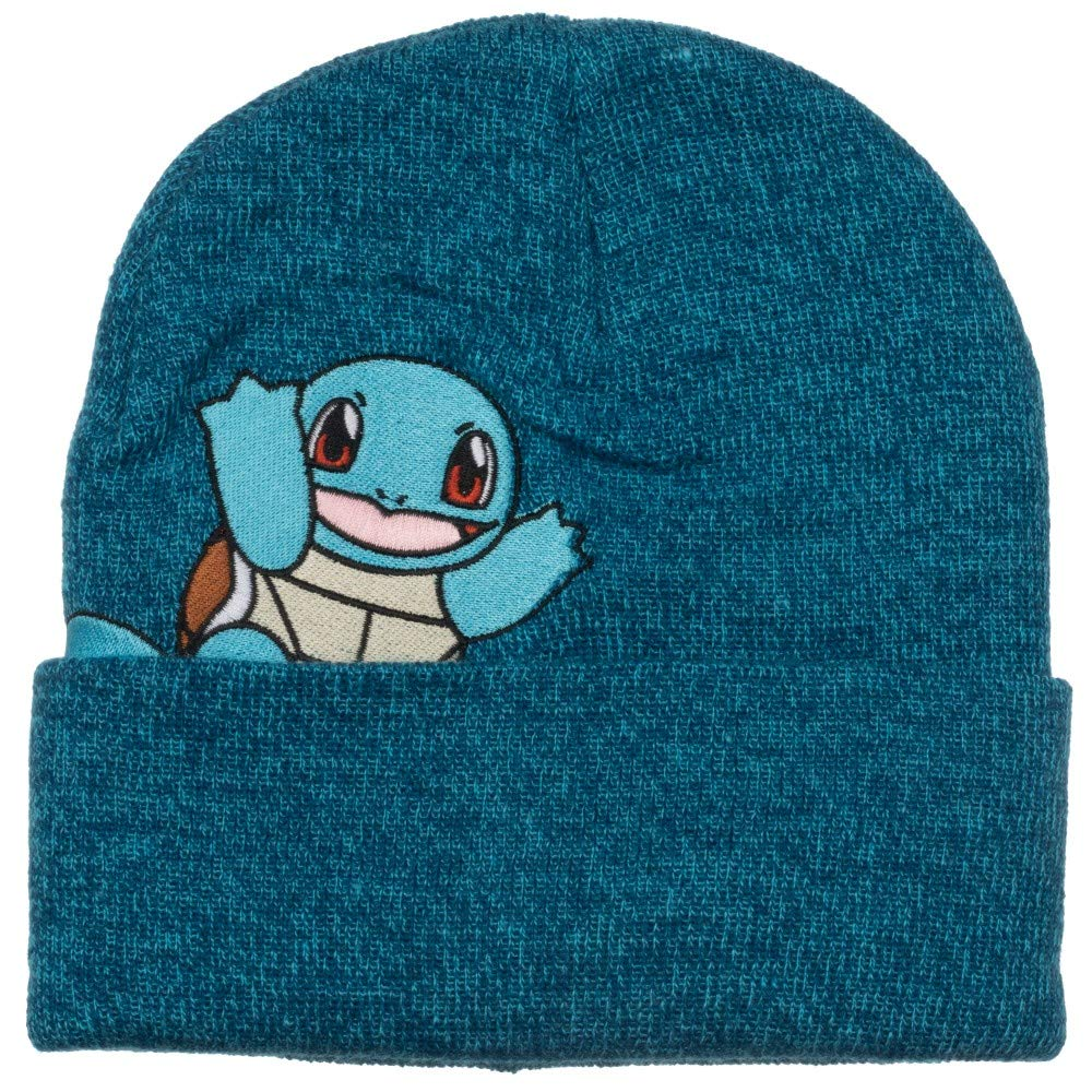 Pokemon - Squirtle - Embroidered Peak-a-Boo Beanie Blue