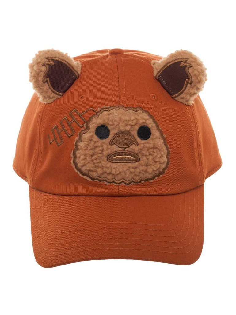 Star Wars - Brown Ewok Face with Ears in Coton Snapback Cap
