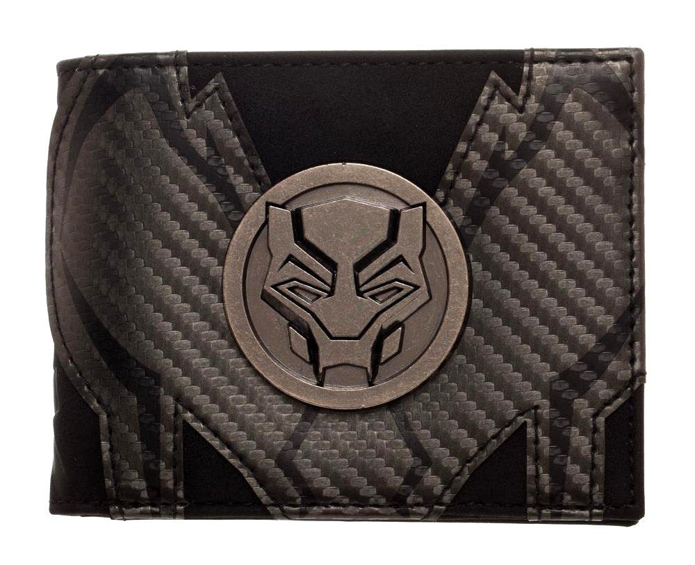 Marvel - Black Panther - Bi-Fold Black Wallet with Metal Badge