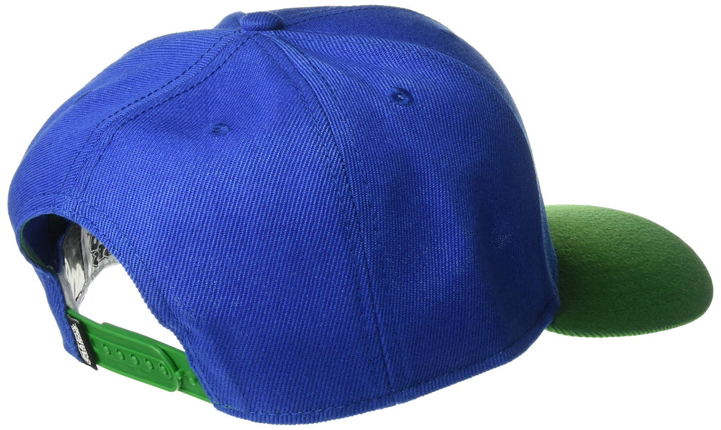 Nintendo - Luigi Kanji Japanese - Blue & Green - Adjustable Snapback Hat Cap