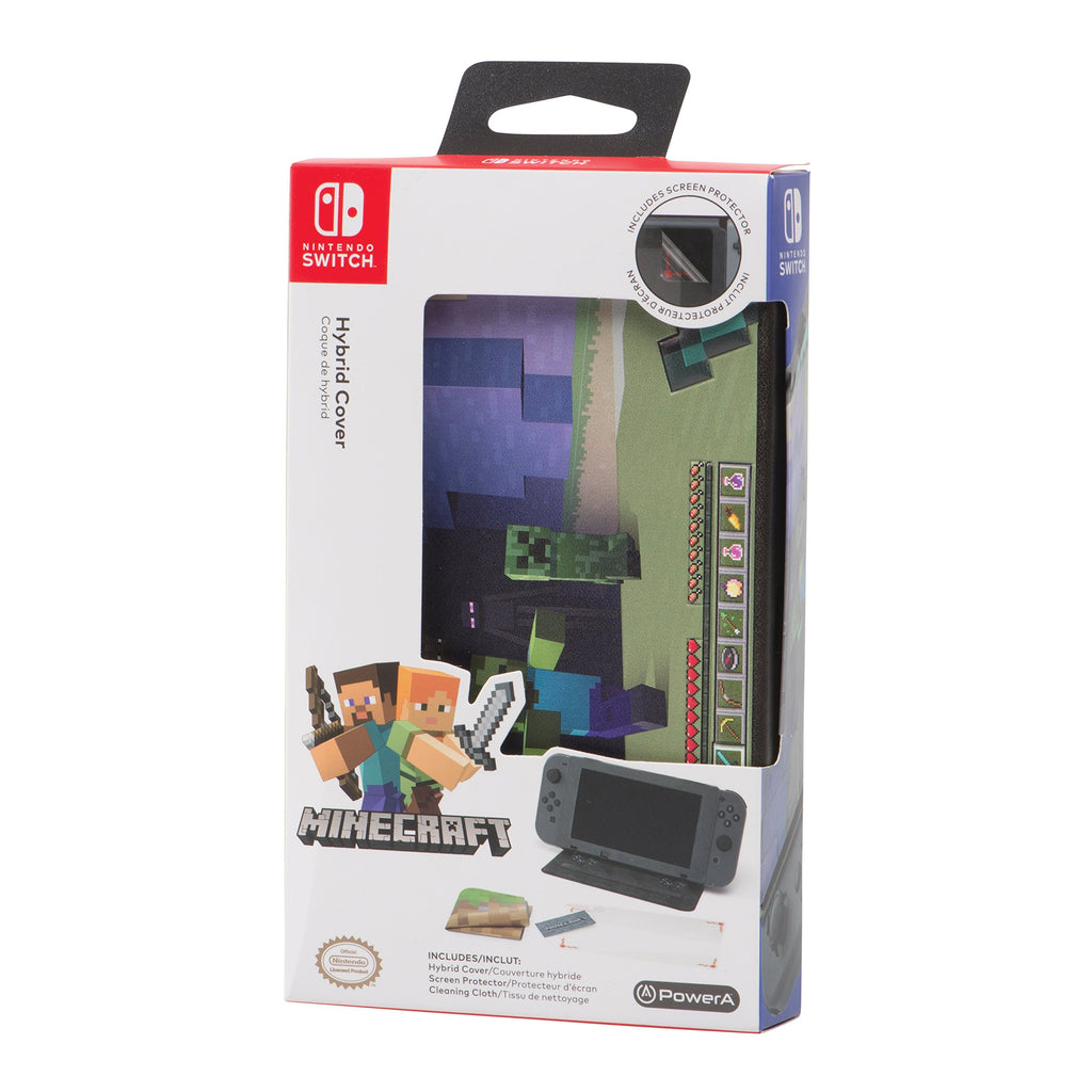 PowerA Nintendo Switch Hybrid Cover - Minecraft World