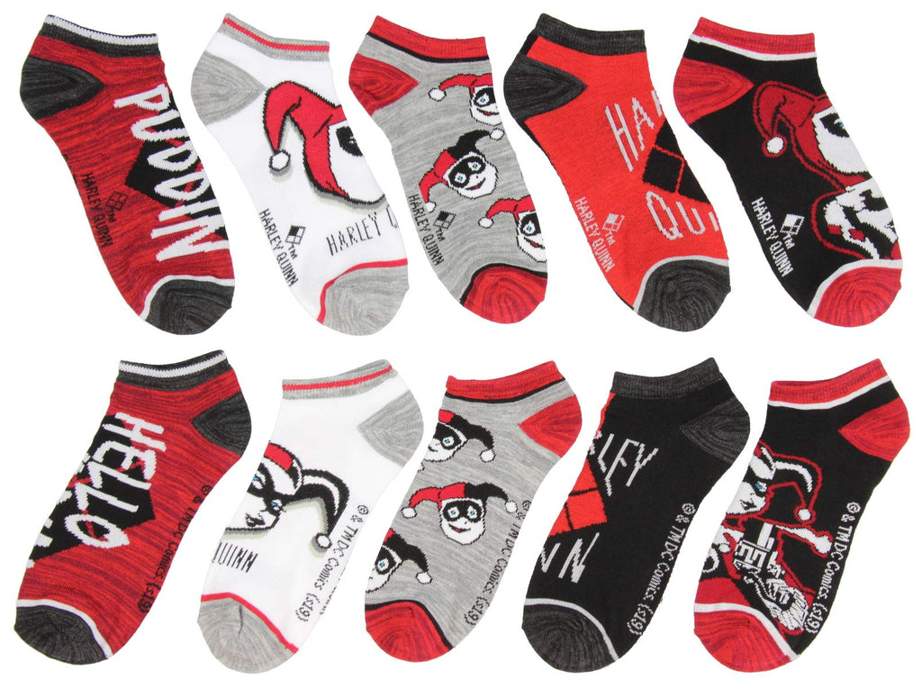 DC Comics - Harley Quinn - Adult Character Themed Designs 5 Pack Ankle Socks