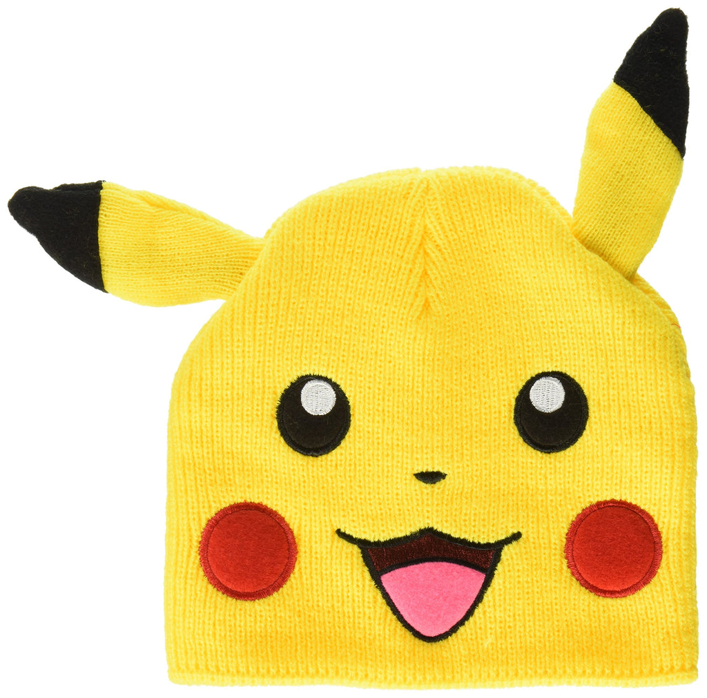 Pokemon - Pikachu Big Face Fleece Cap Beanie with Ears