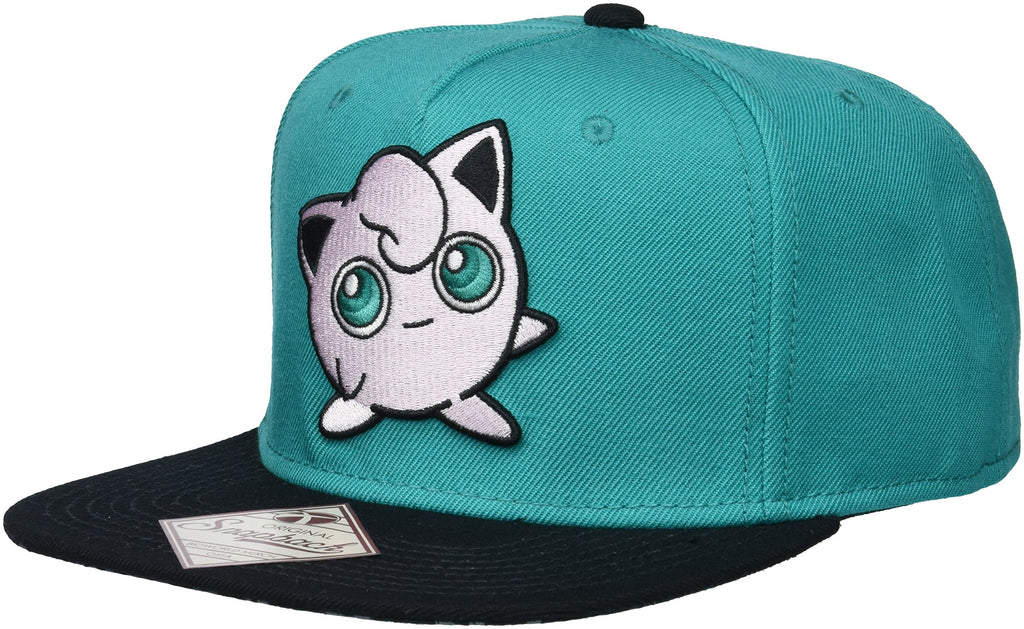 Pokemon - Jigglypuff Embroidered Turquoise Snapback Cap Hat