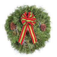 "25"" Lake Superior Wreath. Price includes designer box, and personalized note card shipping. Order must be placed by 4 PM on 14 Nov."