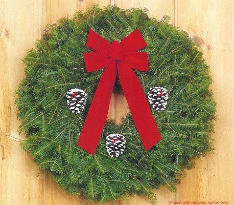 "22""-24"" Balsam Fir Wreath.  Evergreen Products (Price includes shipping and personalized note card) Order must be placed by 4 PM on 14 Nov."