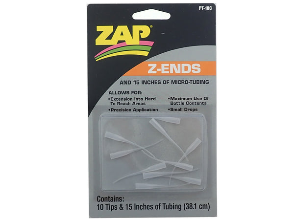 Zap PT-18C Z-Ends Tips and Tubing