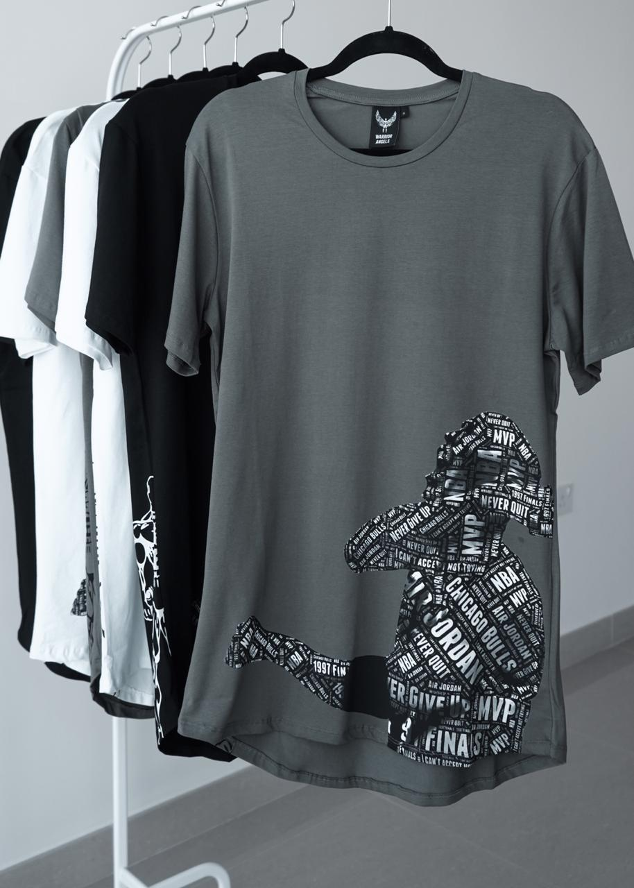 Short Sleeve T-Shirt Typo B&W