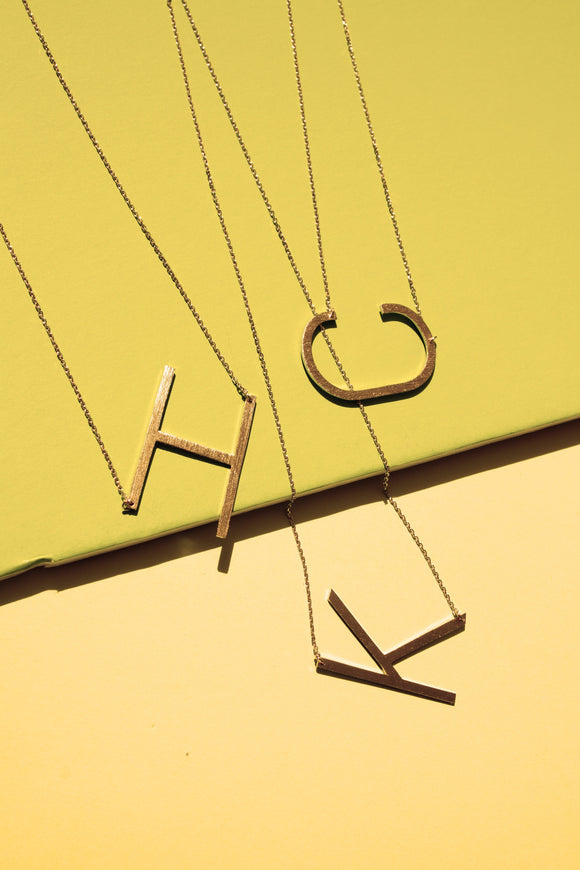 New Monogram Initial Necklace