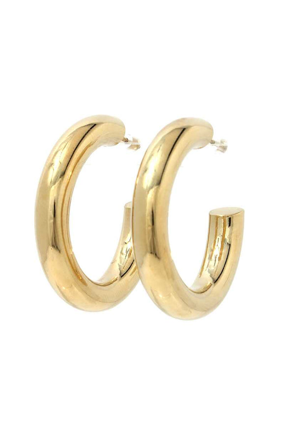 Tube Open Hoop Earring