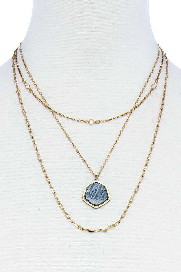 Triple Layer Stylish Pendant Necklace
