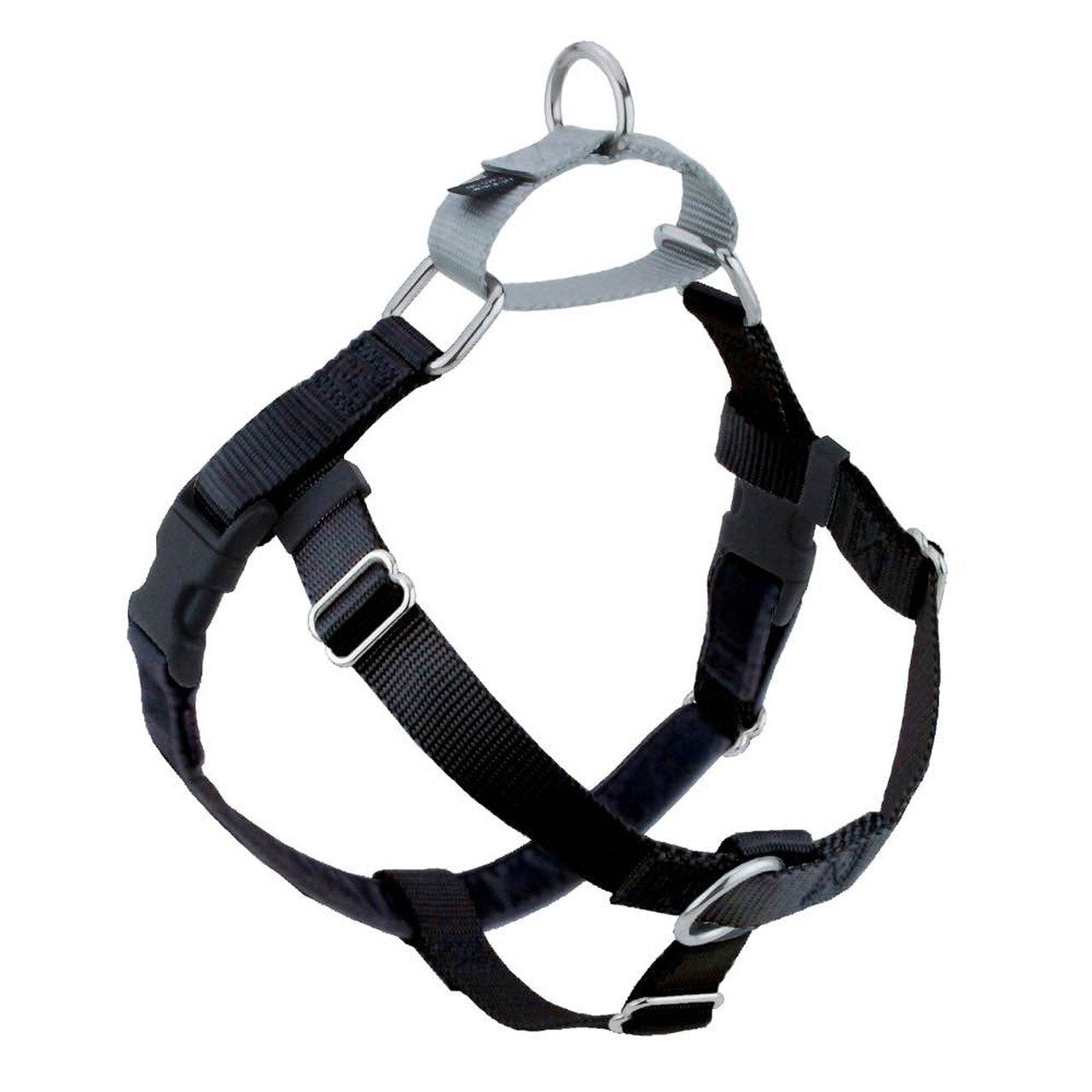 "2 Hounds Design Freedom No-Pull Dog Harness and Leash - Large 1"" - Black - For Southeastern Guide Dogs"