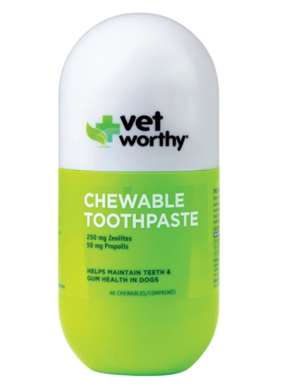Vet Worthy Tablet Toothpaste 60 Ct - For Southeastern Guide Dogs