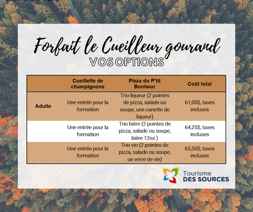 COMPLET / FORFAIT - CUEILLEUR GOURMAND
