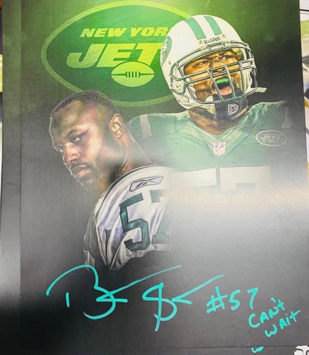 Bart Scott Jets Signed 8x10