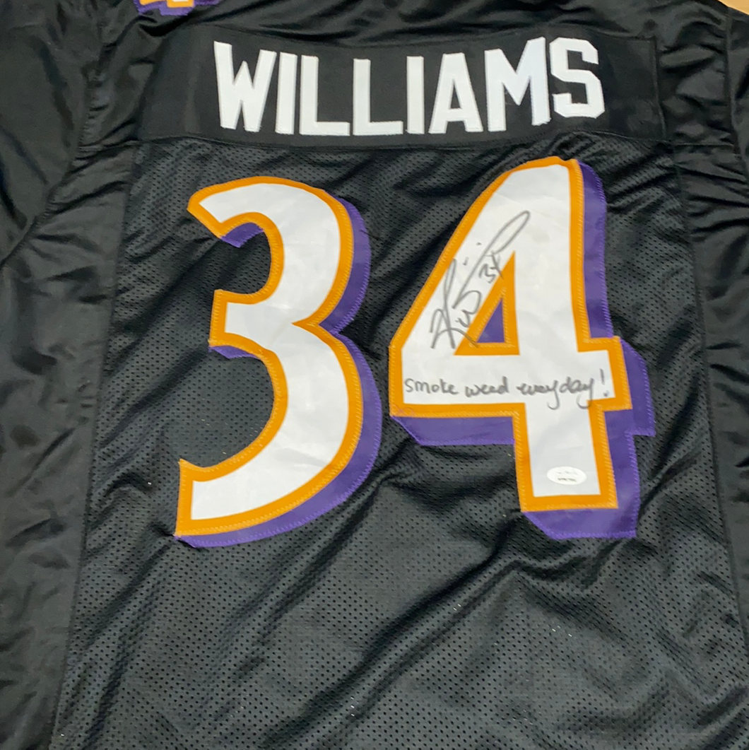 Ricky Williams Custom Jersey Smoke Weed Everyday Inscription