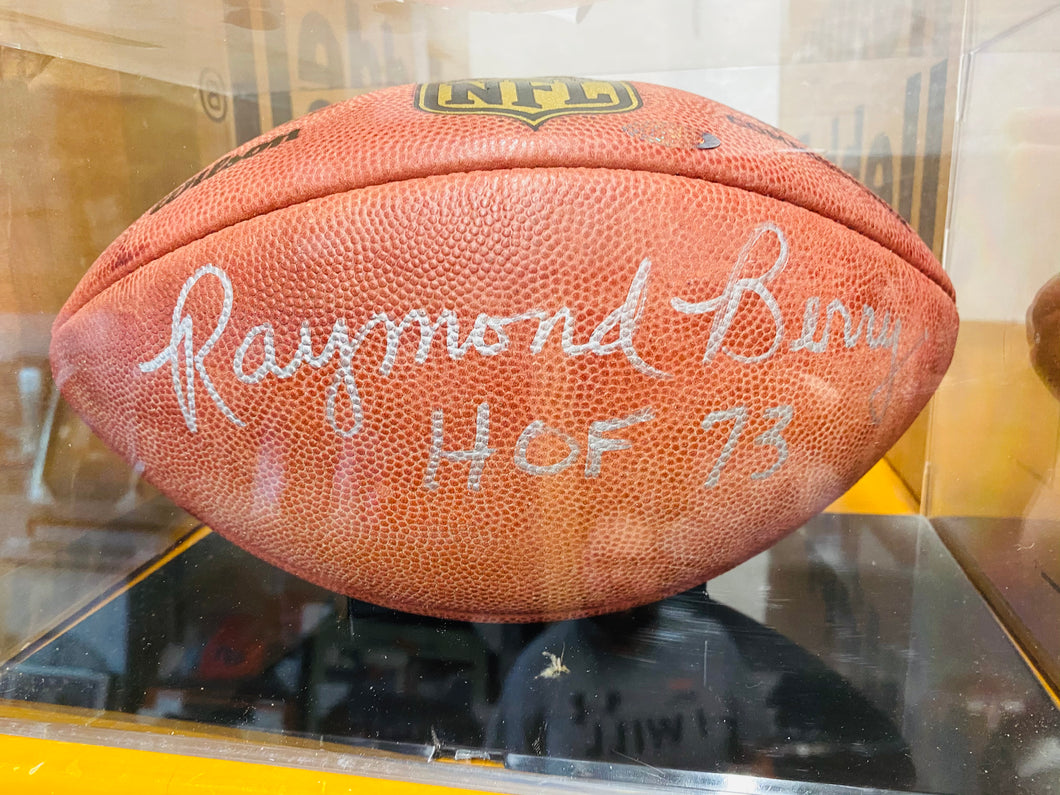 Raymond Barry Signed Football
