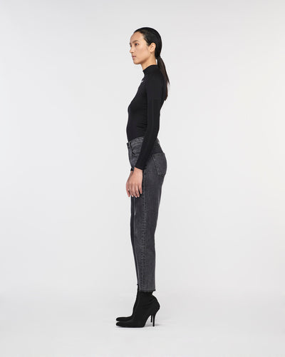 Alicia Traditional Relax Denim Pant Lunar Black