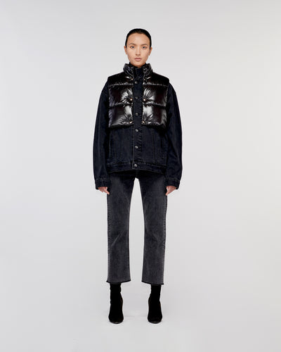 Runyon Convertible Denim Jacket Lunar Black