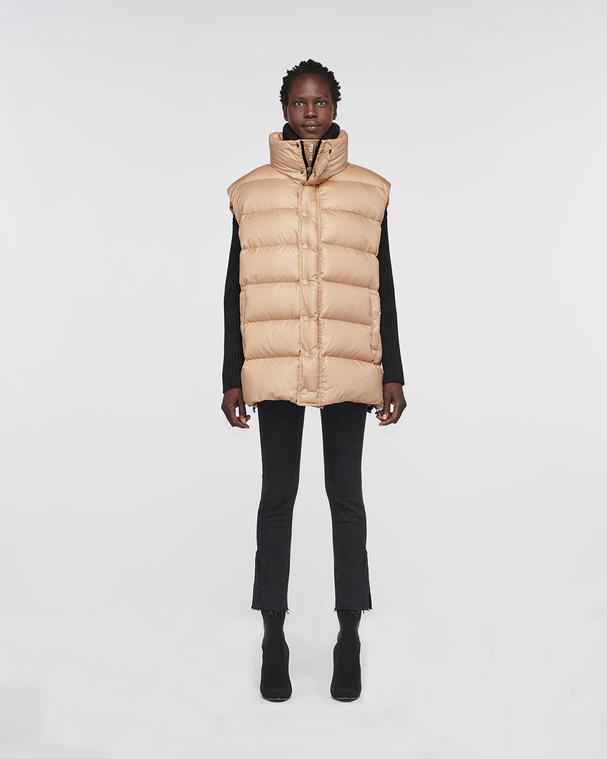 Corral Oversized Down Vest Wood Brown