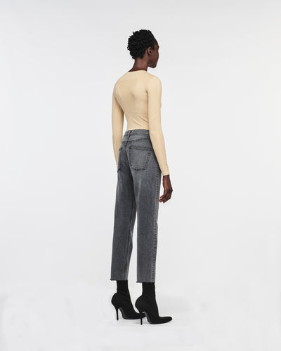 Alicia Traditional Relax Denim Pant Solar Black