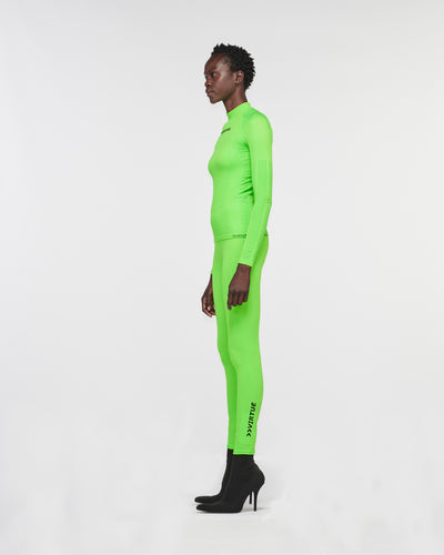 Beverly Hills Seamless Legging Green Fluro