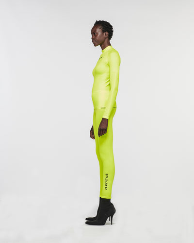 Malibu Seamless Mock Neck Yellow Fluro