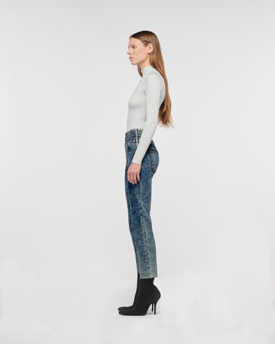 Emma Boxing Straight Denim Pant Constellation