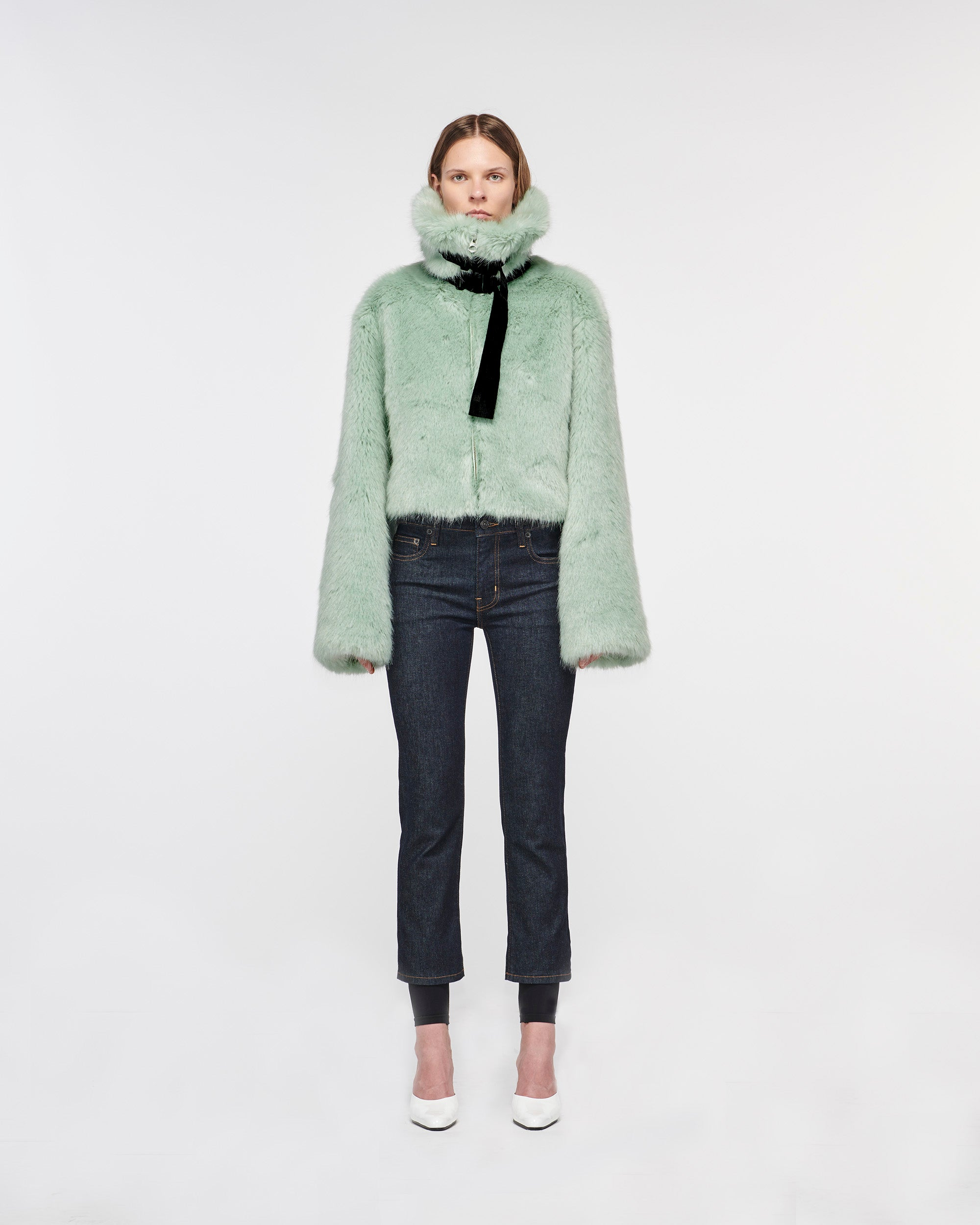 Marmont Faux Fur Jacket Cyprus Green