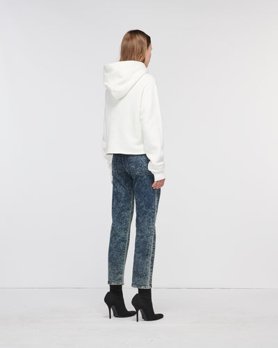 Echo Park Cropped Hoodie Off White