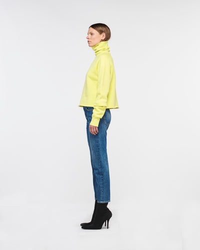 Santa Monica Cropped Turtle Neck Lemon