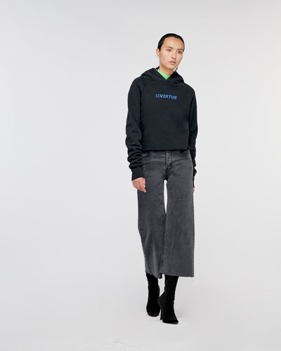 Echo Park Cropped Hoodie Old Black
