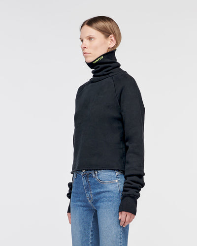Santa Monica Cropped Turtle Neck Old Black