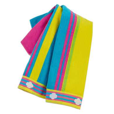 Striped Beach Towel With Trefoils