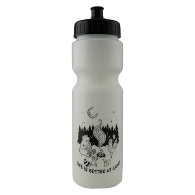 Life Is Better At Camp Glow In The Dark Water Bottle