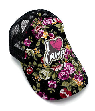 I Heart Camp Floral Trucker Hat | Girl Scouts of NYPENN Pathways